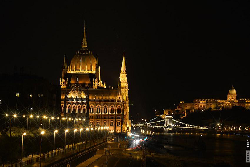 budapest, parlament, night, nacht